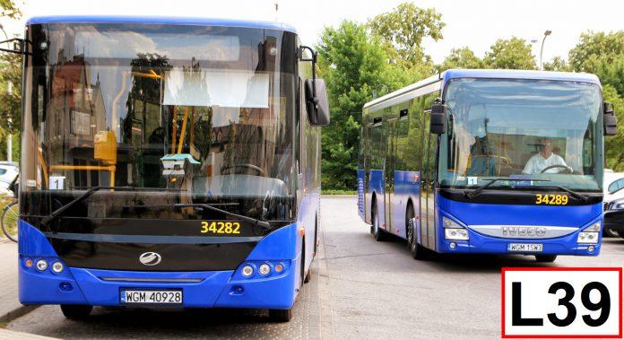 Zmiany dla linii L39 w rejonie PKP Jeziorki