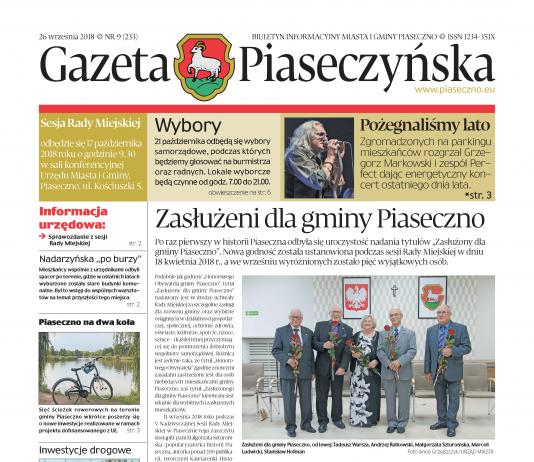 Gazeta Piaseczyńska nr 9/2018