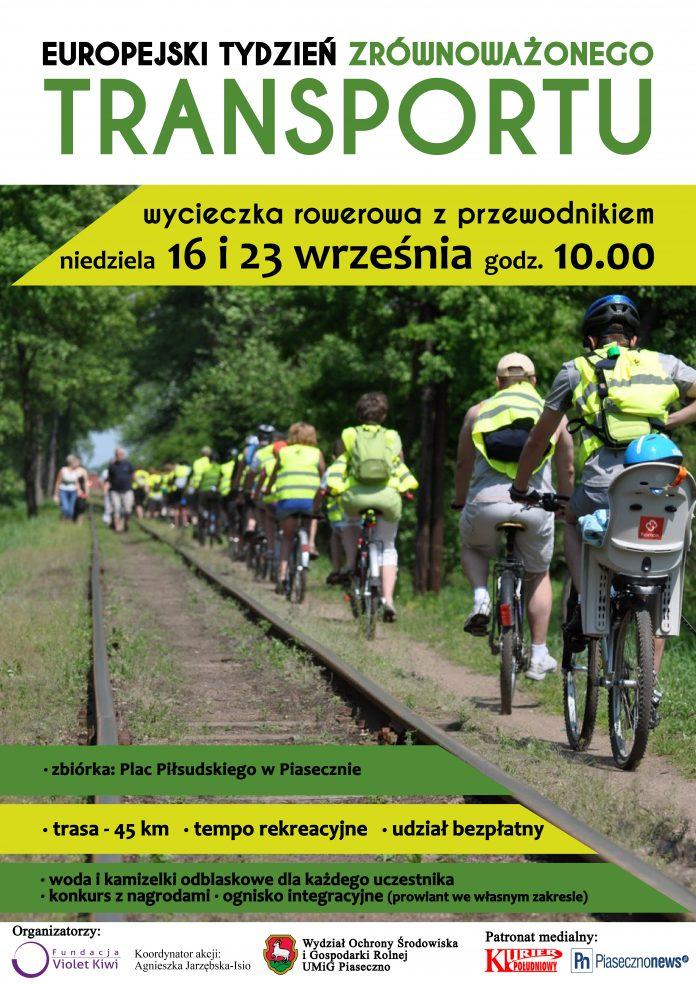 Europejski Tydzień Zrownoważonego Transportu plakat