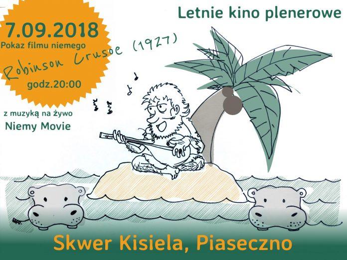"""Film pt.: """"Robinson Crusoe"""" w Piaseczyńskim Kinie Plenerowym - Niemy Movie"""