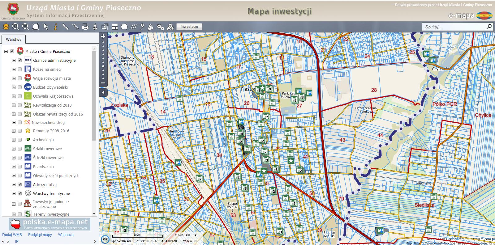 mapa zabytków