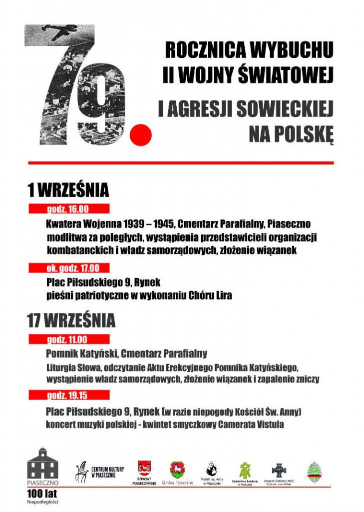 Uroczystość upamiętniająca rocznicę agresji Związku Sowieckiego na Polskę