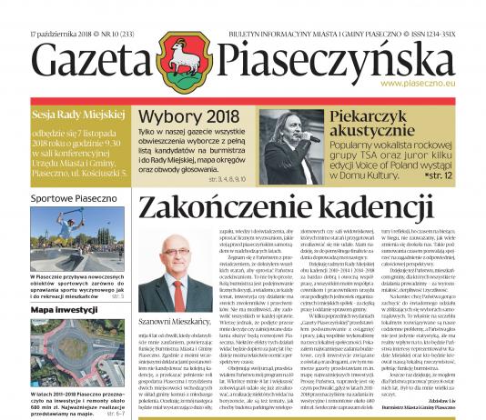 Gazeta Piaseczyńska nr 10/2018