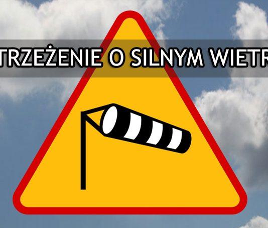 Ostrzeżenie - silny wiatr