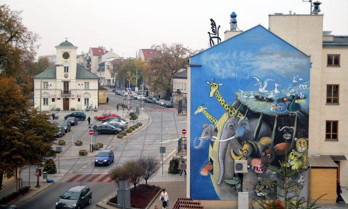 Wilkoniowy mural w Piasecznie