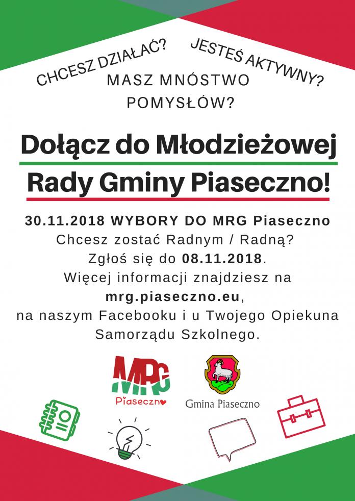 Wybory do Młodzieżowej Rady Gminy Piaseczno na kadencję 2018-2020