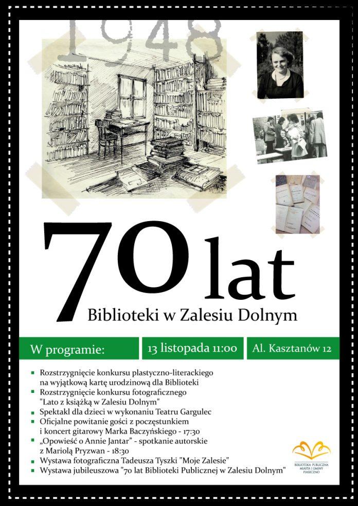 70. urodziny Biblioteki Publicznej im. Danuty Orłowskiej w Zalesiu Dolnym