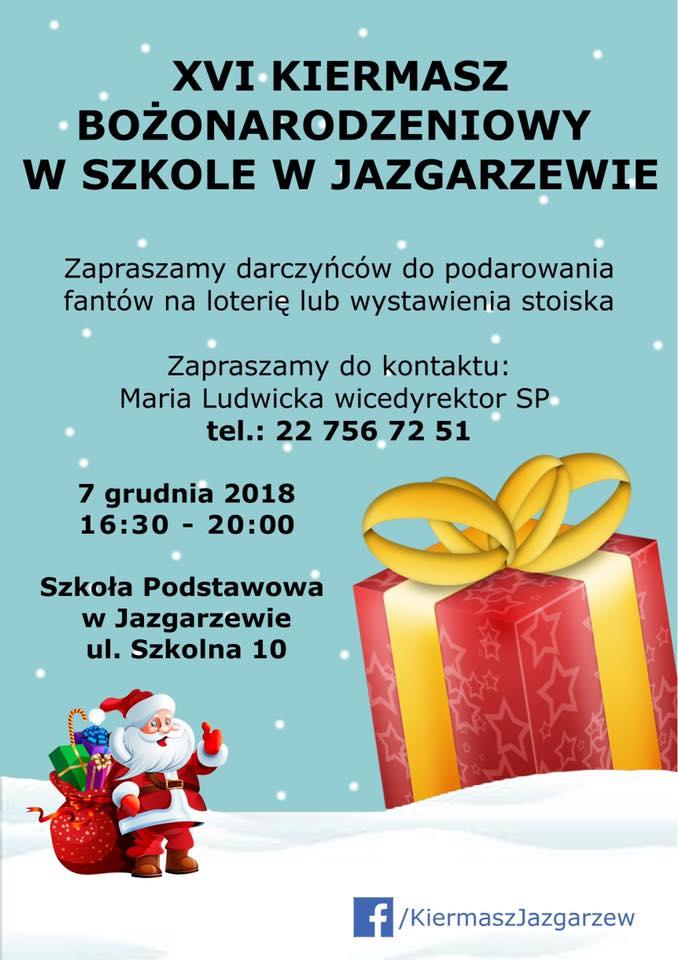 Kiermasz Bożonarodzeniowy w Jazgarzewie 2018