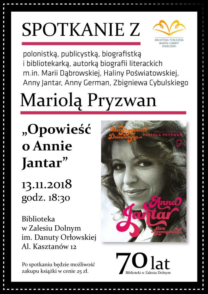 Spotkanie zMariolą Pryzwan - opowieść o Annie Jantar