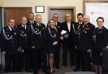 Strażacy u burmistrza Zdzisława Lisa