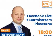 Facebook Live z Burmistrzem Piaseczna
