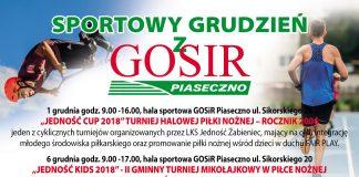 Sportowy grudzień z GOSiR Piaseczno