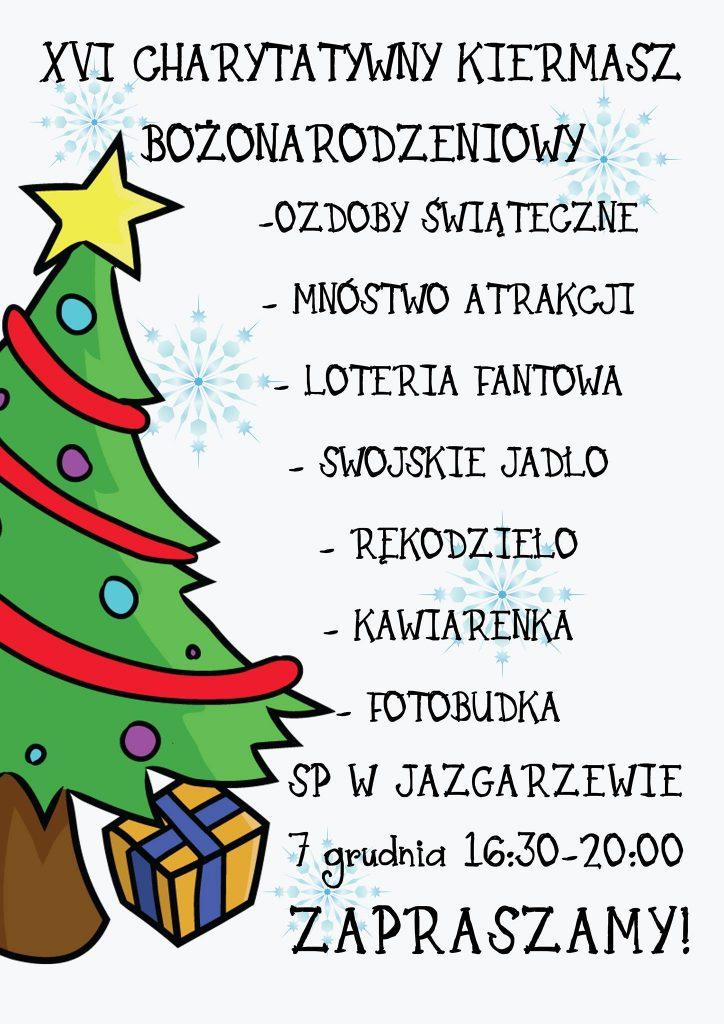 XVI Kiermasz Bożonarodzeniowy w Szkole Podstawowej w Jazgarzewie