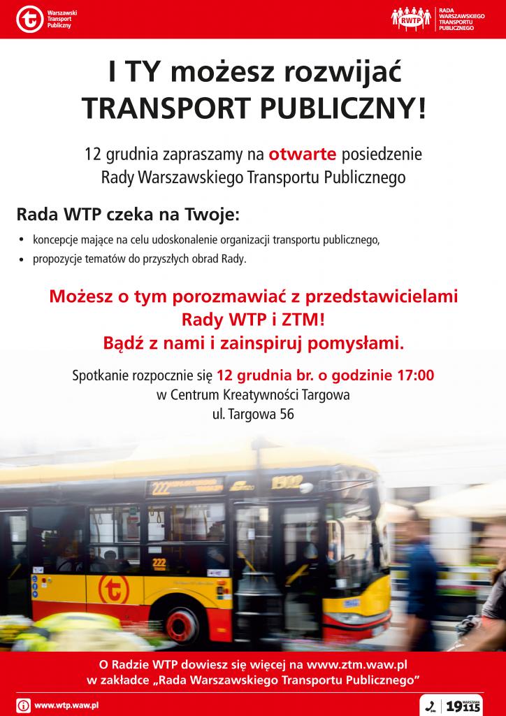 Rada Warszawskiego Transportu Publicznego – spotkanie otwarte