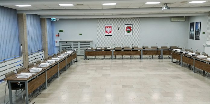 Sala konferencyjna Urzędu Miasta i Gminy Piaseczno