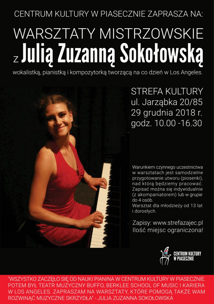 Warsztaty z Julią Zuzanną Sokołowską