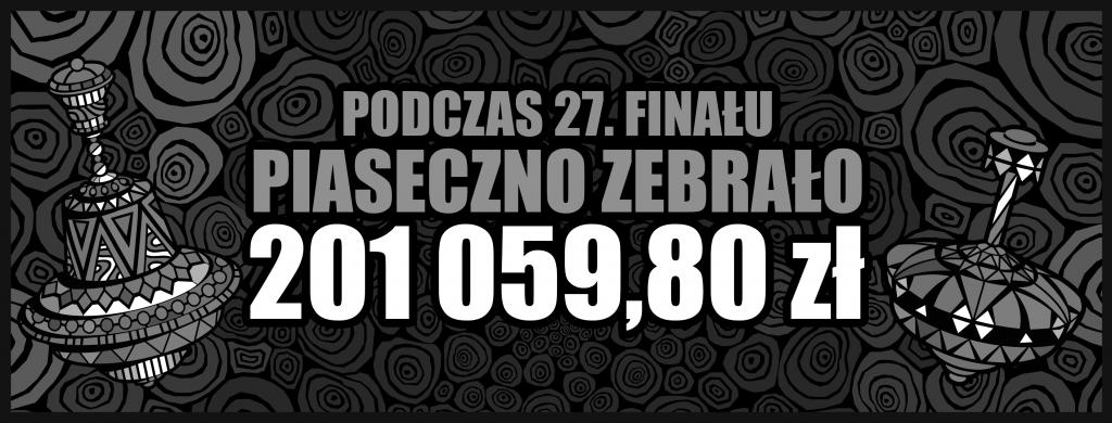 Piaseczyński Sztab WOŚP został rozliczony. Zebrana kwota - 201.059,80 złotych