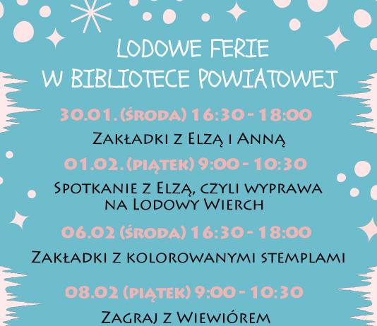 Lodowe ferie w Bibliotece Powiatowej