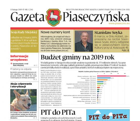 Gazeta Piaseczyńska nr 1/2019