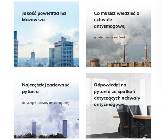 Portal o ochronie powietrza na Mazowszu, źródło: http://www.powietrze.mazovia.pl/
