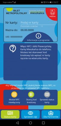 Aplikacja mobilna programu Piaseczyńska Karta Mieszkańca