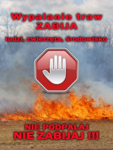 NIE dla wypalania traw