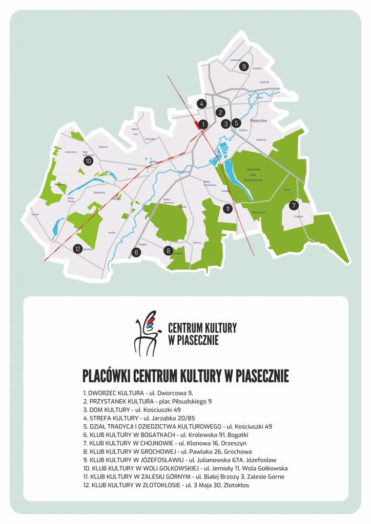 Placówki Centrum Kultury w Piasecznie
