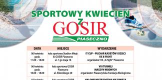 Sportowy kwiecień z GOSiR Piaseczno