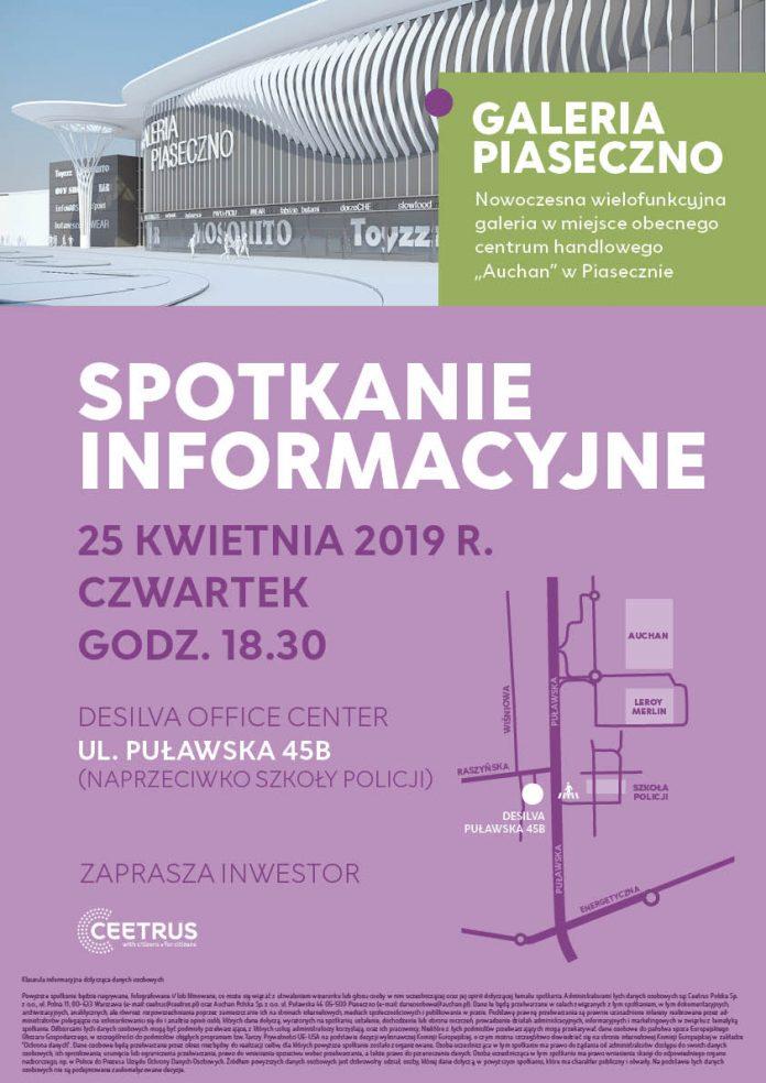 Spotkanie informacyjne dla mieszkańców w sprawie Galerii Auchan Piaseczno