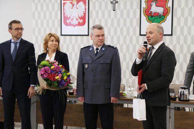 Komendant Powiatowy Policji na sesji RM