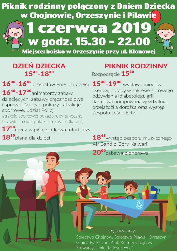 Piknik rodzinny połączony z Dniem Dziecka w Orzeszynie