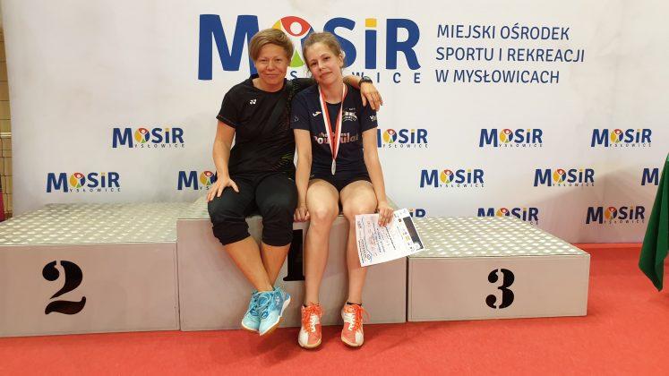 Katarzyna Garbacka - trenerka i Magdalena Łuczak Vice Mistrzyni Polski w grze podwójnej