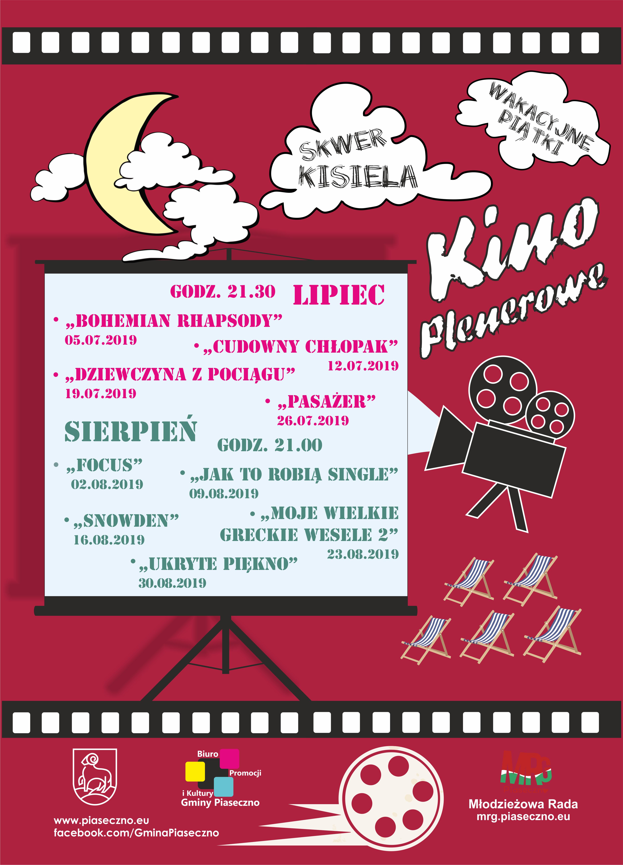 Piaseczyńskie Kino Plenerowe 2019 plakat