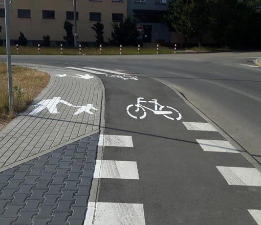 Oznakowany ciąg pieszo-rowerowy na ul. Żytniej, foto: Michał Baran