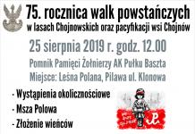 75. rocznica walk powstańczych w lasach Chojnowskich oraz pacyfikacji wsi Chojnów