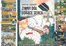 Zimny Dół Gorące Serca - promocja komiksu na skwerze Kisiela w Piasecznie