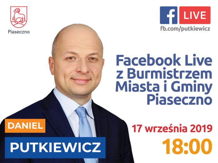 Facebook Live z Burmistrzem 17 września 2019