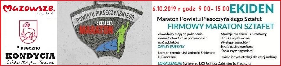 EKIDEN IV Maraton Powiatu Piaseczyńskiego Sztafet w Żabieńcu