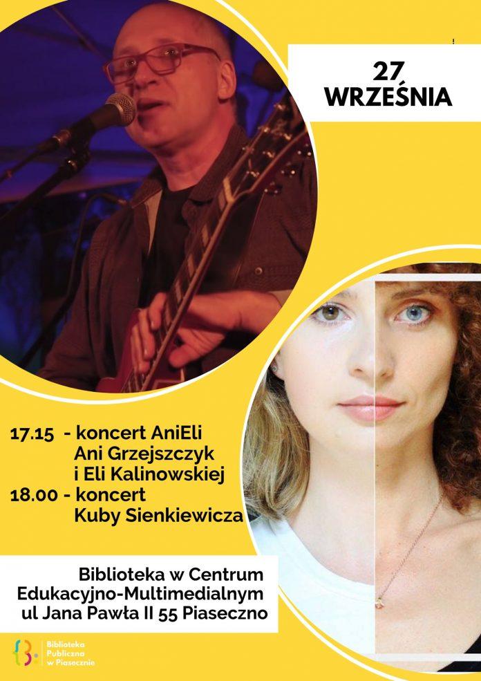 Koncert Kuby Sienkiewicza w Bibliotece Głównej w CEM Piaseczno