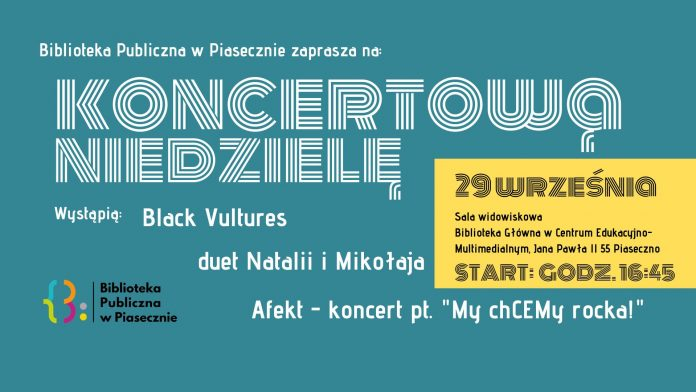 Koncert rockowy w CEM Piaseczno - Black Vultures, Natalia i Mikołaj, Afekt