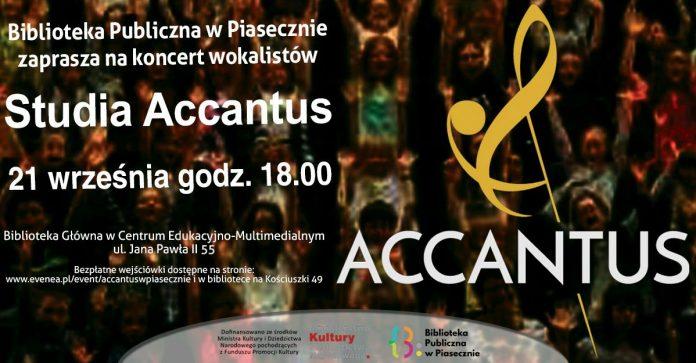 Koncert wokalistów Studia Accantus w Bibliotece CEM Piaseczno