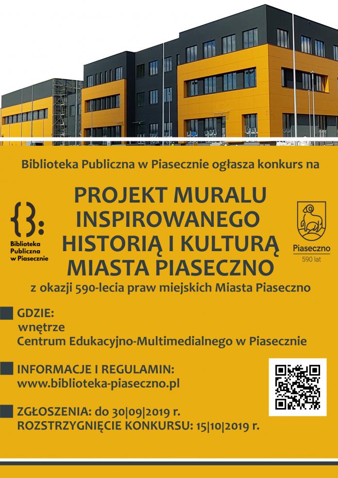 Konkurs na projekt muralu inspirowanego historią i kulturą miasta Piaseczno