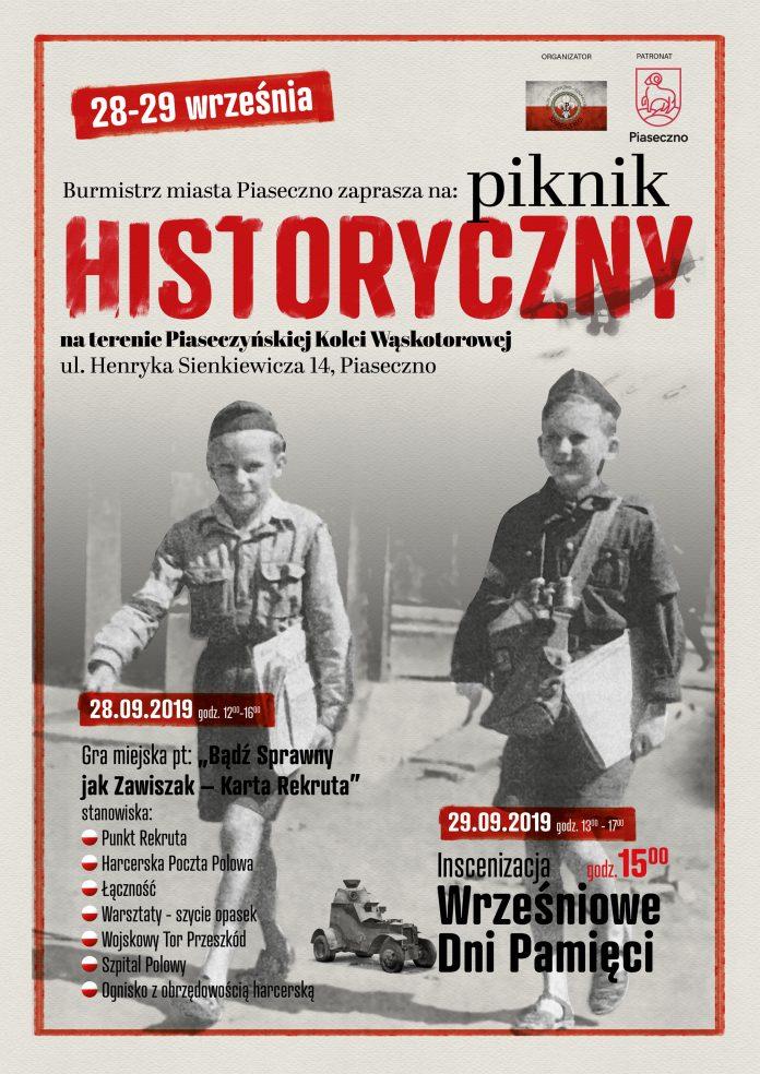 Piknik Historyczny na terenie Piaseczyńskiej Kolei Wąskotorowej
