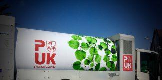Zdjęcie samochodu do obioru odpadów PUK Piaseczno