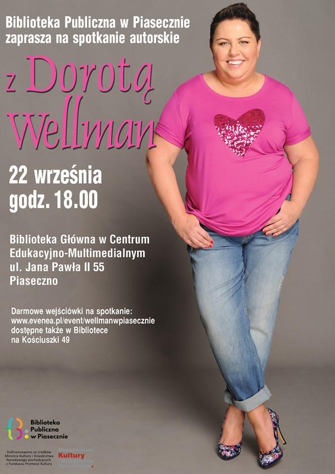 Spotkanie z Dorotą Wellman w Bibliotece Głównej w CEM Piaseczno