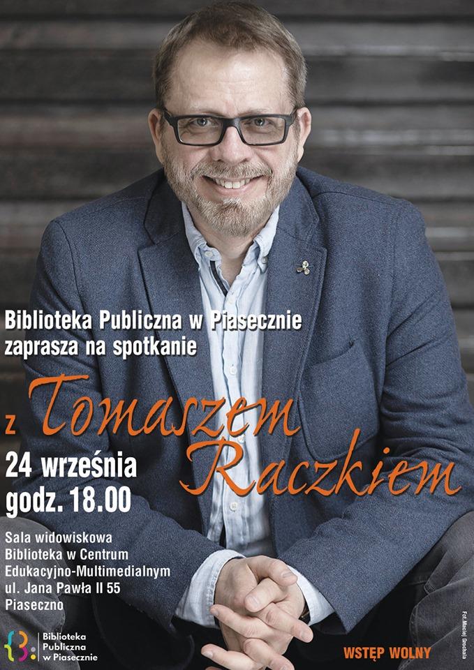 Spotkanie z Tomaszem Raczkiem w Bibliotece Głównej w CEM Piaseczno