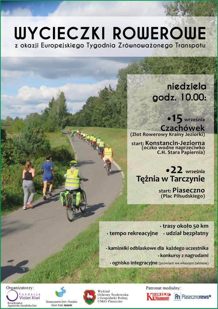 Wycieczki rowerowe w ramach obchodów Europejskiego Tygodnia Zrównoważonego Transportu