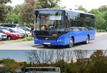 W środę 2 października, po południu na trasach linii P, pojawią się niebieskie autobusy zgodne z umową. W godzinach porannych będą jeszcze kursować białe, jak na zdjęciu.