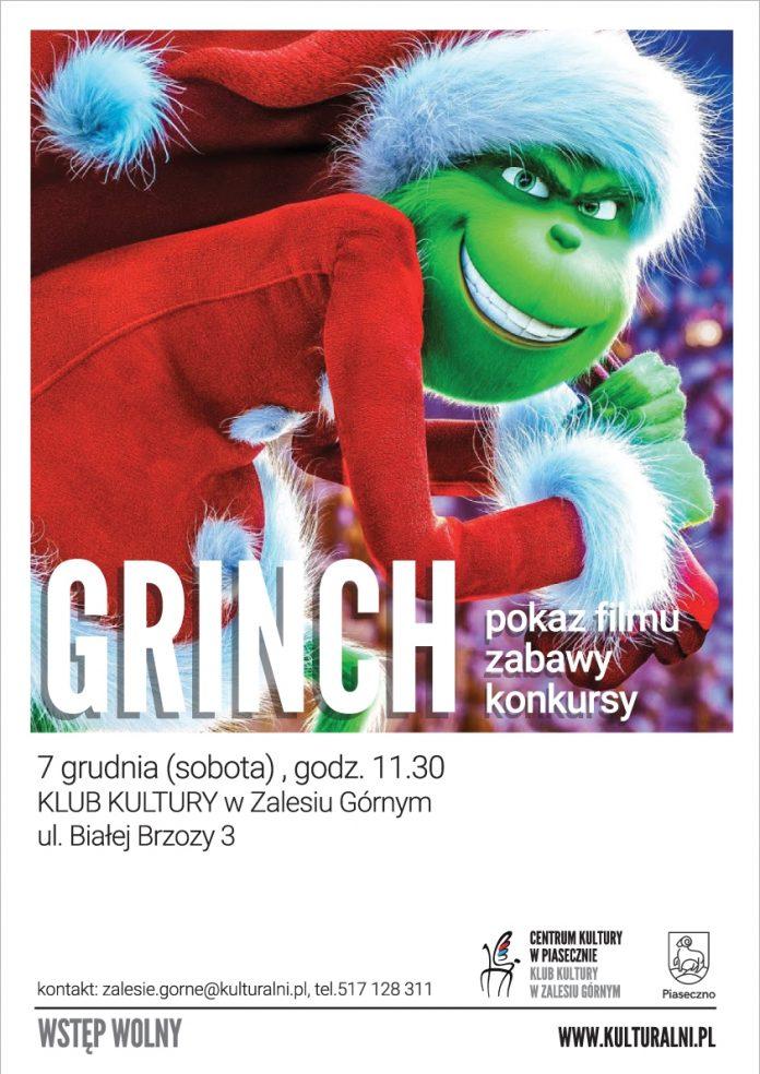 Pokaz filmu Grinch świąt nie będzie oraz zabawy i konkursy w Zalesiu Górnym