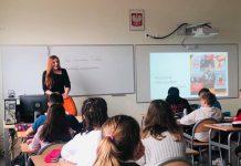 Spotkanie z Agnieszka Cubałą w Szkole Podstawowej nr 4 w Piasecznie